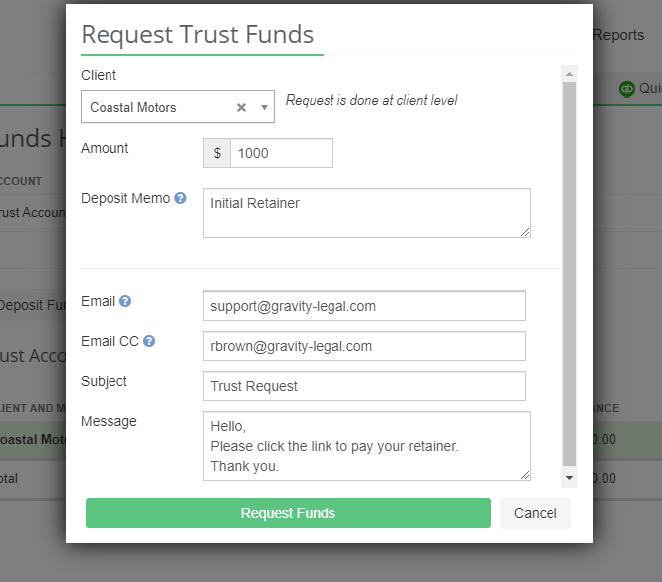 LeanLaw - Trust Request