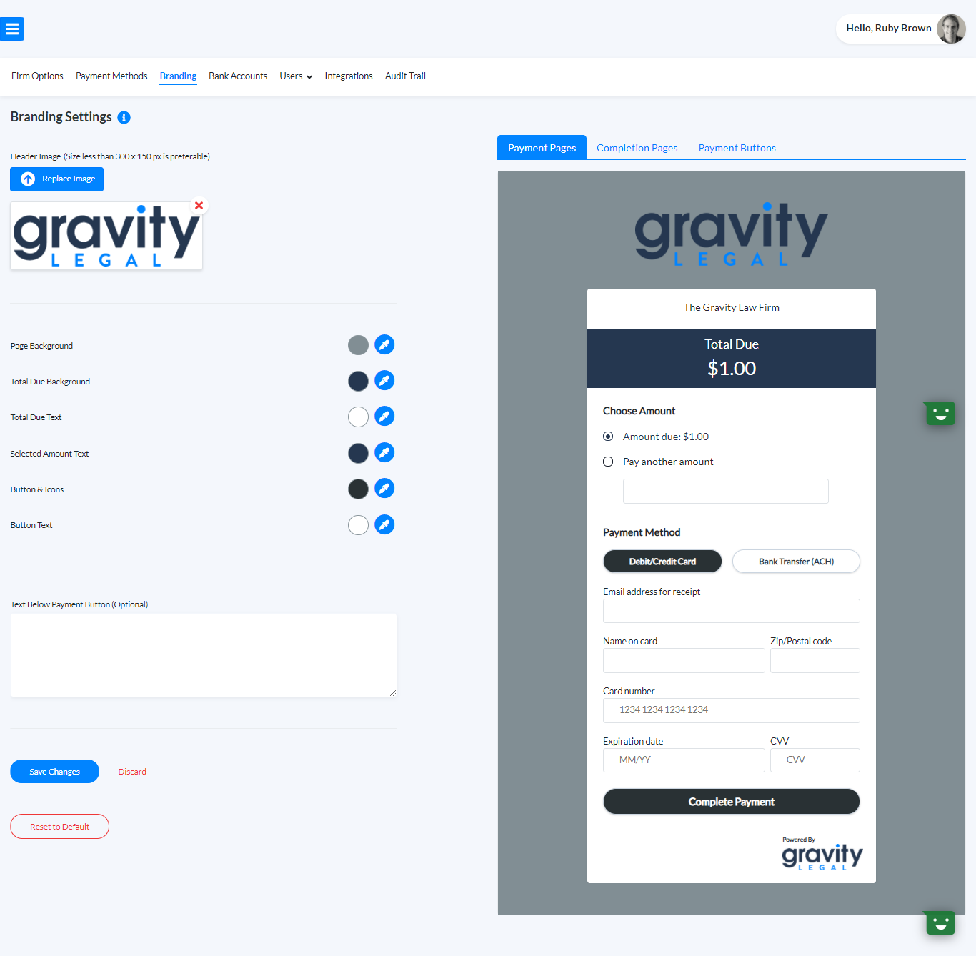 Payment Page Branding
