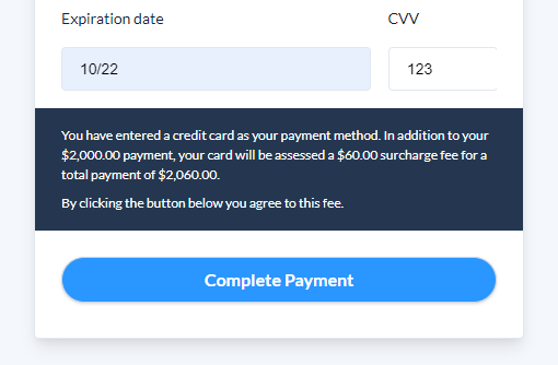 Payment Link Surcharge